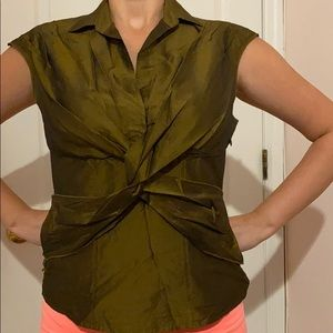 MODA International Silk Top Size Medium